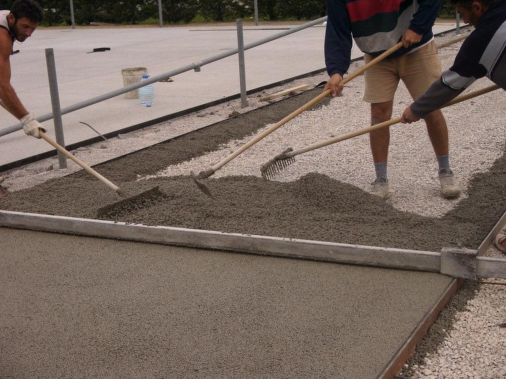 Pavimento de hormigón poroso en Madrid